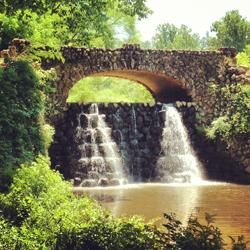 Dam at Reynolda Gardens trail