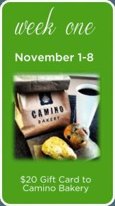 Week 1 Holiday Giveaway Camino Bakery