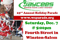 Winston-Salem Jaycees Christmas Holiday Parade