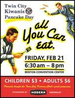 Vintage Kiwanis Pancake Day Poster