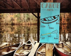 Canoes at Camp Hanes