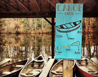 Camp Hanes Canoes