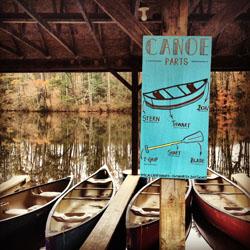 Canoes at Camp Hanes