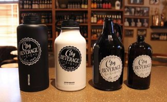 City Beverage Growlers