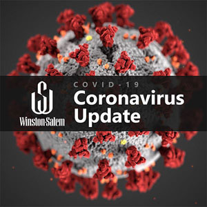 Picture of COVID-19 coronavirus under electron microscope (Caption: Winston-Salem COVID-19 Coronavirus Update)