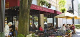 The patio outside at Hutch and Harris