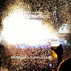avett brothers new years eve greensboro cheers confetti