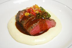 Fire in the Triad Competition Dining Chef Milner food lamb