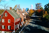 old salem winston salem skyline