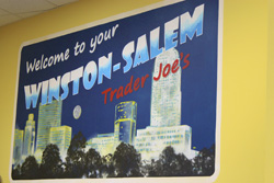 Trader Joe's Winston-Salem mural post card