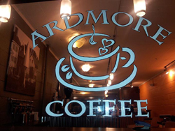 Ardmore Coffee window and logo