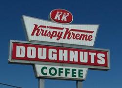 Krispy Kreme doughnuts coffee winston-salem sign