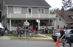Film Crew on Set for Suzie's Law in Winston Salem