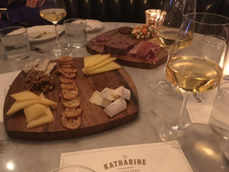 Charcuterie and cheese plates at the Katharine