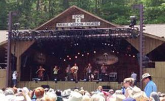 Scythian playing on stage: Merlefest