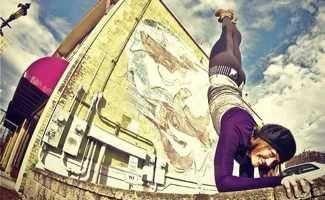 Lindsey of Paz Yoga Studios on Trade Street