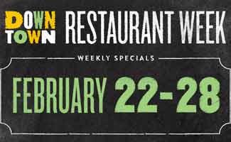 Restaurant Week February 22-28 2016