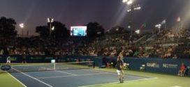 Winston Salem Open Tennis 2015 at night Tsonga
